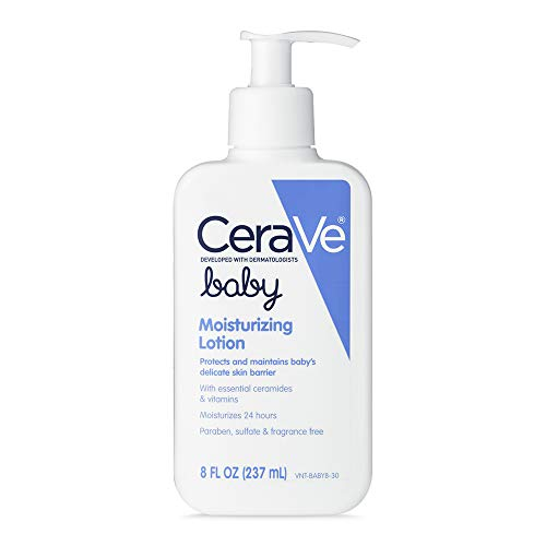 CeraVe Baby Lotion | 8 Ounce | Gentle Baby Skin Care with Hyaluronic Acid | Paraben and Fragrance Free