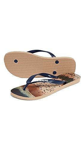Havaianas Mens Hype Flip Flops Steg Guld