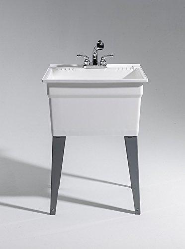 CASHEL 1960-32-21 Sink - Fully Loaded Sink Kit, Steel Leg, White by Cashel (Image #2)