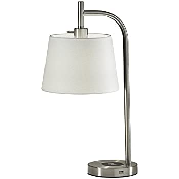 Adesso 4069 02 Drake Charge Table Lamp Brushed Steel