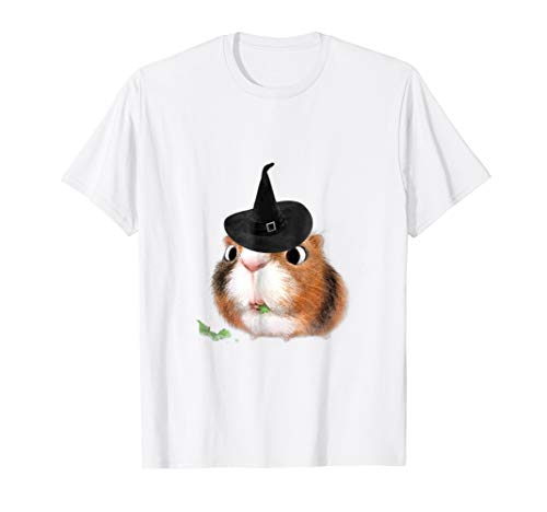 Cute Guinea Pig Witch T-Shirt - Halloween Gift