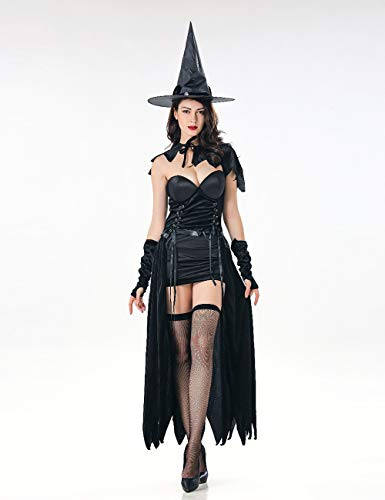 Delle Witchs Notte Zhhyltt Cosplay Operato Costume Halloween Mostra Masquerade 2pcs Adulto Halloween Strega Adulte Catwoman Donne Vestono Black Vampiro Costumi Club ddrOqx5Zw