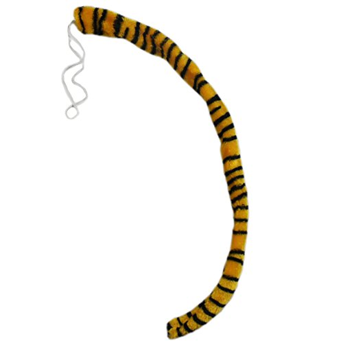 Adult Tiger Halloween Costumes (Adult Kids Halloween Cosplay Costume Party Animal Plush Long Tiger Leopoard Tail)