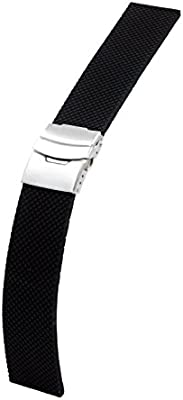 @ccessory 24mm Deportes de Silicona Correa de Reloj Pulsera con Broche de Metal + Herramienta para Sony Smartwatch 2 SW2 (Negro)