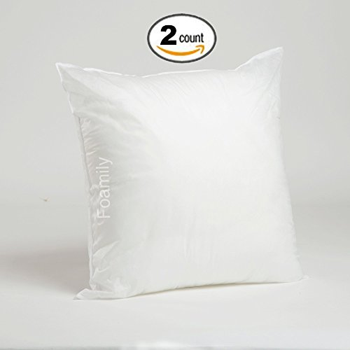 Sale!! Set of 2 - 22 x 22 Premium Hypoallergenic Stuffer Pillow Insert Sham Square Form Polyester, S...