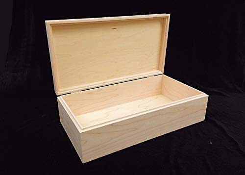 Unfinished Wood Box with Hinges 13 3/4 x 7 1/4 x 4 from Designcraft Industries