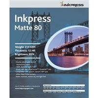 (Inkpress Duo Matte 80 Inkjet Paper, 215 gsm Weight, 12 mil Thickness, 95% Brightness, Double Sided, 11x17