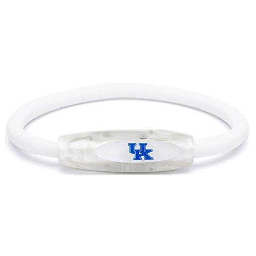 (NCAA Kentucky Wildcats Active Wristband, White, Medium)