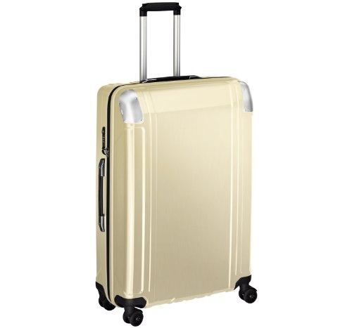 Zero Halliburton Geo Polycarbonate 28 Inch 4 Wheel Spinner Travel Case, Polished Gold, One Size