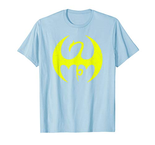 - Marvel Iron Fist Distressed Dragon Logo Graphic T-Shirt C1