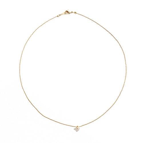 HONEYCAT Moonstone Necklace Minimalist Delicate product image