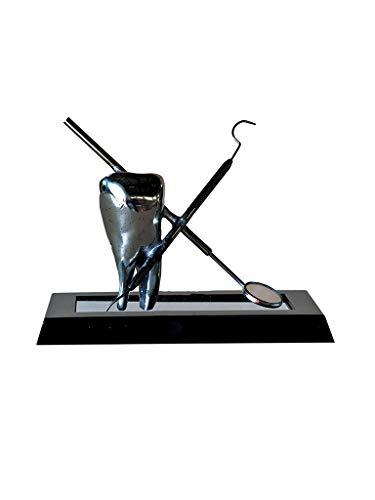 Escultura De Mesa Dente Decoração Consultório Odontolágico Sarquis Samara Preto