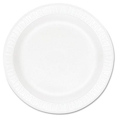 10.25 Inch Foam - Dart 10PWCR 10.25 in White Unlaminated Foam Plate (Case of 500)