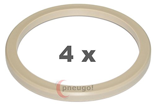 Haskyy 4 aluminium centering rings set I 74,1-72,6 ALUMINIUM I 4x silver