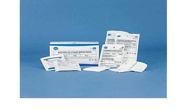 Compresas de gasa plegadas estériles – 10 x 10 cm a 16 capas – Sobre estéril de 5 piezas – 56 sobres de 5 unidades – Paquete de 280 unidades: Amazon.es: Salud y cuidado personal