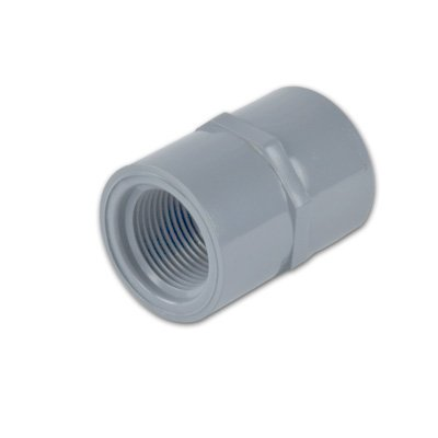 1Inch Light Gray Schedule 80 Cpvc Threaded Straight Coupling Fitting