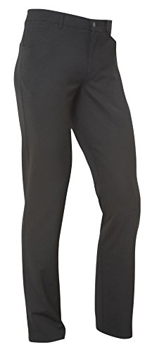 ALBERTO Men's Dress Pant Stone Modern Fit (35x32, Black) by Alberto