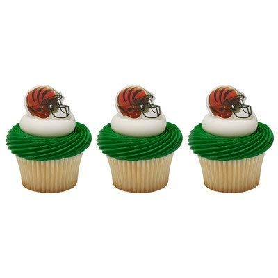 NFL Cincinnati Bengals Cupcake Helmet Rings Cake Decoration