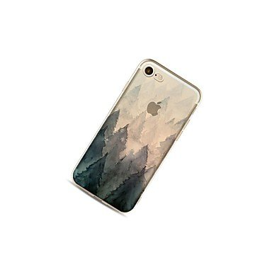 Fundas y estuches para teléfonos móviles, Caso para el iphone 7 más 7 cubra el caso suave de la contraportada del patrón de la caja para el iphone de la manzana 6s más 6 más 6s 6 ( Modelos Compatibles IPhone SE/5s/5