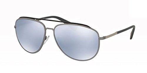 Prada Sport QFP5Q0 Matte Silver 55RS Aviator - Sunglasses Aviator Rectangular Prada