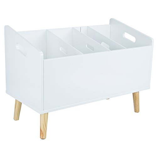 LOMOS® No.20 Design Bücherständer Bücherregal in weiß aus Holz (60x 42x 30cm)