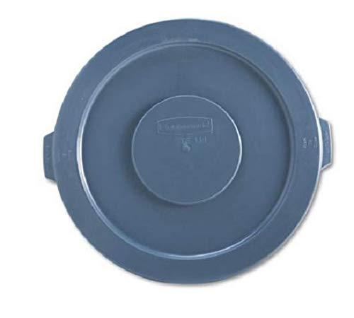 Rubbermaid Commercial Round Flat Top Lid, for 32-Gallon Round Brute Containers, 22 1/4