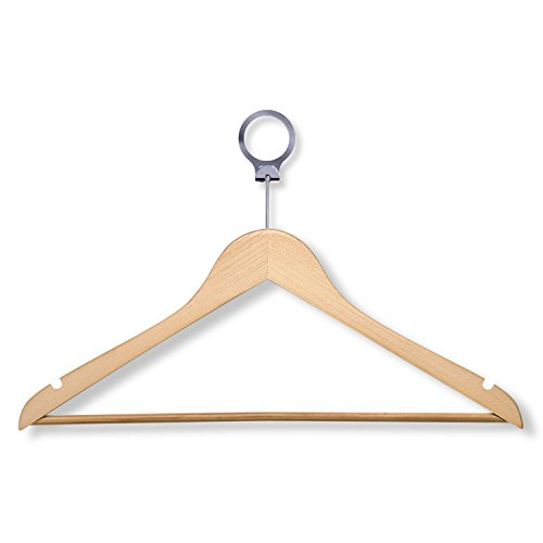 - HoneyCanhDo HNG-01733 Hotel Suit Hangers, Maple, 24-Pack