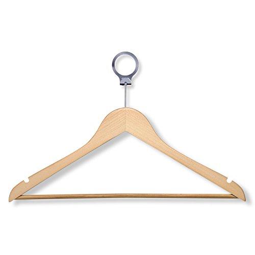 3 Hotel Suit Hangers, Maple, 24-Pack ()
