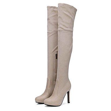 Comfort Stiletto High Gamuza US5 Señaló Talón Moda Botas EU35 Cremallera Piel De Toe Primavera De Otoño Mujer Botas Novedad CN34 Thigh Zapatos RTRY Botas Auténtica UK3 CnqOTX8xw