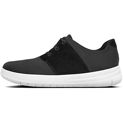 Fitflop Sporty-Pop X Sneaker, Zapatillas para Mujer 41 EU|Negro (Black)
