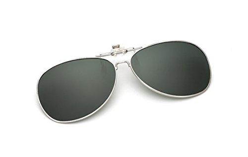 Mujer UK1stChoice up en Gafas Zone Las Sol Negro Unisex Verde Polarizado Hombre Flip de Clip CLIPON0001 qErXEf