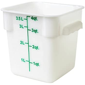 Amazon Com Excellante 4 Quart Polypropylene Square Food