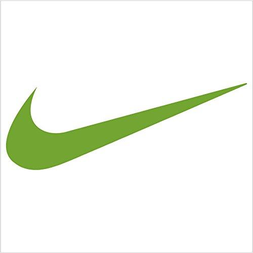 Nike Swoosh Logo Vinyl Sticker Decal Lime Green 4 Inch