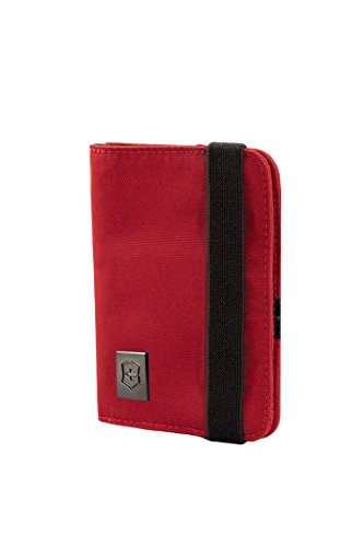 Victorinox Passport Holder with RFID Protection, Red Logo (Victorinox Business Card Holder)