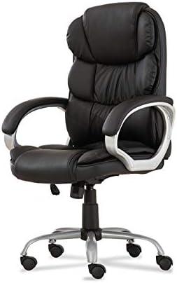 BELLEZE Bonded Leather Executive Chair Office Chair Swivel Tilt High Backrest Armrest Cushion