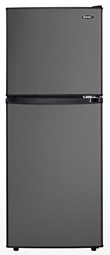 Danby DCR047A1BBSL Dual Door Compact Refrigerator, Black Stainless