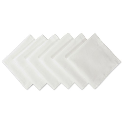 """DII Wrinkle Resistant 20x20"""" Polyester Napkin, Pack of 6, White - Perfect for Brunch, Catering Events, Thanksgiving, Dinner Parties, Showers, Weddings and Everyday Use"""