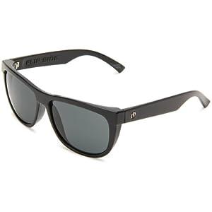 Electric Visual Flipside Round Sunglasses,Gloss Black Frame/Grey Lens,One Size