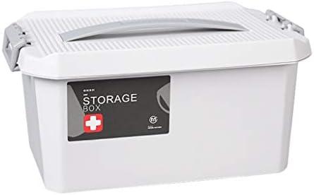 HXF- Pillendose PP-Hausapotheke Medizin-Aufbewahrungsbox Robust (Color : Gray, Size : L34.5cm)