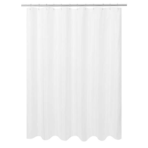 N&Y HOME Ultimate Waterproof Fabric Shower Curtain or Liner, Machine Washable, Breathable TPU Fabric Bath Tub Shower Liner, White, 72x72 inch