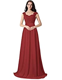 0454e7353b2 ThaliaDress Long Chiffon Applique Bridesmaid Prom Evening Dress T007LF