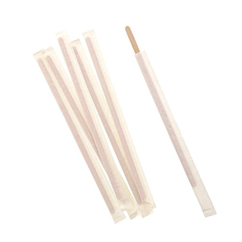 Royal 7.5'' Individually Wrapped Wood Coffee Stirrers, Package of 500 by Royal (Image #3)