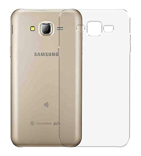 US Prints Protective Silicon Soft Transparent Back Cover for Samsung Galaxy J7  2015   SM J700F