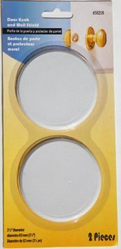Door Knob and Wall Shield - 2 Pieces - Ivory - Paintable