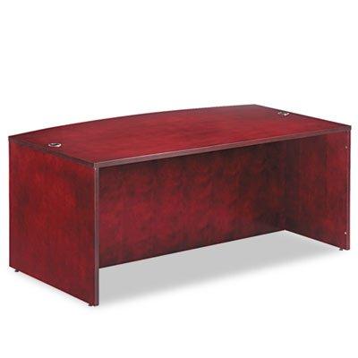 Alera ALERN227242MM Verona Veneer Series Bow Front Desk Shell,71w x 41-1/2d x 29-1/2h, Mahogany