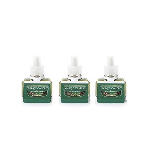 Refills Fragrancer Electric - Yankee Candle Pack of 3 Balsam & Cedar ScentPlug Refill Fresh Scent