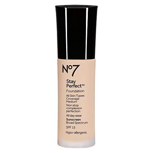 No7 Stay Perfect Foundation - 1oz - SPF 15 Warm Beige
