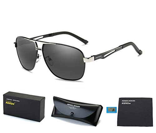 Jewelry Polarized Drivers (Mens Polarized Driving Sunglasses for Men-AORON Outdoor Sports Sunglasses with Case, 100% UV Protection (Black Frame Gray Len))