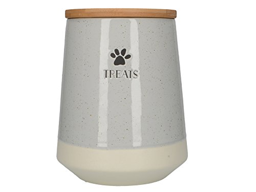 Creative Tops Tails & Treats Large Dog Cat Pet Food Treats Jar Container In Grey Review