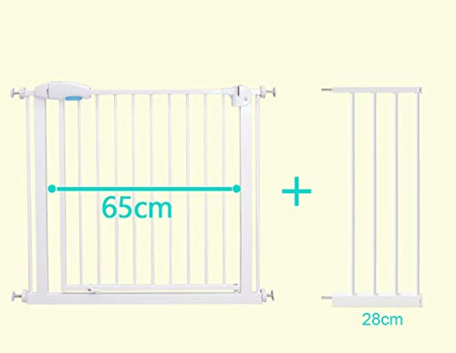 Walk Through Baby Gate Safety Pet Dog Gate for Stairs Door Hallway, Width Adjustable 44-47 Inch, Includes 11-Inch Extension Kit (39 Inch Tall)